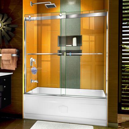 SHDR-6360602-01 Sapphire 56-60″ W x 60″ H Semi-Frameless Bypass Tub Door in