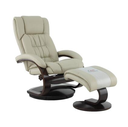 Norfolk Collection NORFOLK051097 Recliner and Ottoman with Reclines  Swivels  Memory Foam Seating  Quality Breathable Air Leather and Angled Ottoman