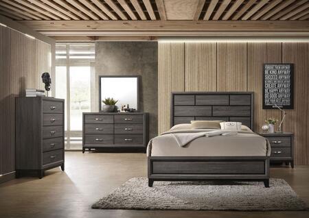 Acme Furniture Valdemar 27047EK5SET Bedroom Set Gray, Bedroom Set