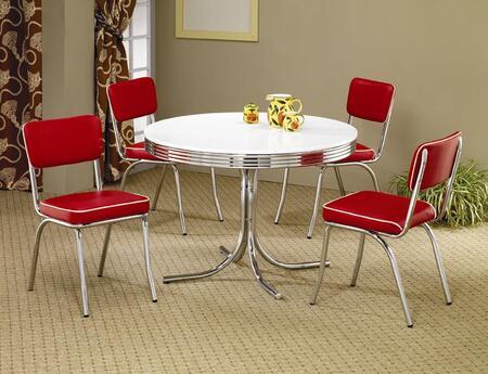 Coaster Cleveland 2388SETRED Dining Room Set, 1