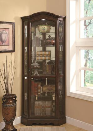 Coaster Curio Cabinets 950175 Curio Cabinet Brown, 1