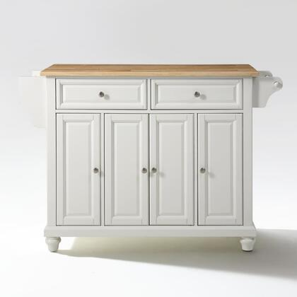 Cambridge Collection KF30001DWH Wood Top Island/Cart in White