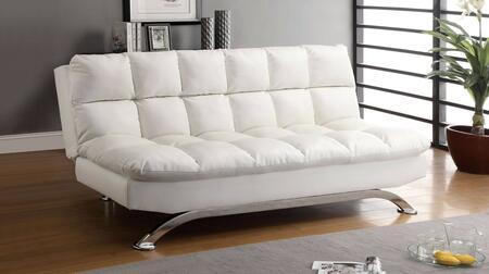 Furniture of America Aristo CM2906WH Futon White, Main Image