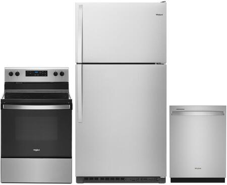 Whirlpool  1101518 Kitchen Appliance Package Stainless Steel, Main Image