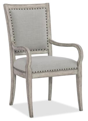 Hooker Furniture Boheme 575075400LTWD Dining Room Chair Gray, Silo Image