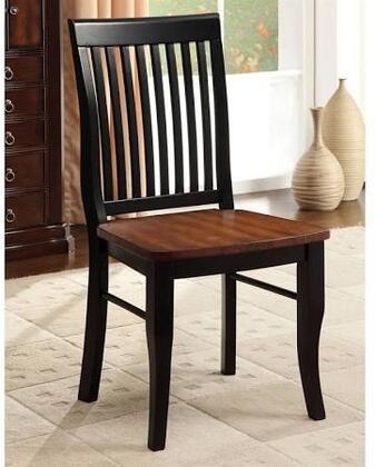 Furniture of America Earlham CM3101SC2PK Dining Room Chair Black, Main Image