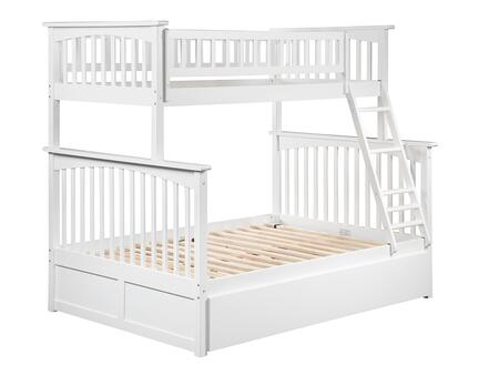 AB55252 Columbia Bunk Bed Twin over Full with Twin Size Urban Trundle Bed in