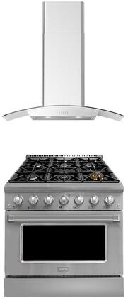 Forte  1458106 Kitchen Appliance Package Stainless Steel, main image