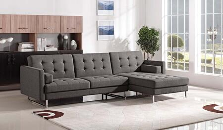 ESF 1471 I17725 Sectional Sofa Gray, 1471SECTIONALRIGHT Main Image