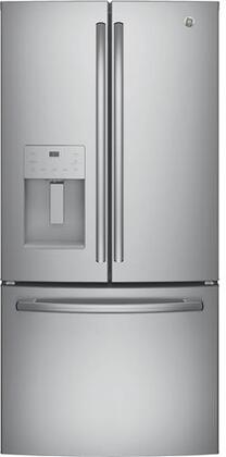 GE  GYE18JSLSS French Door Refrigerator Stainless Steel, Main View
