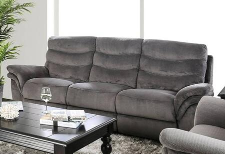 Furniture of America Hamlin CM6574SF Motion Sofa Gray, Main Image