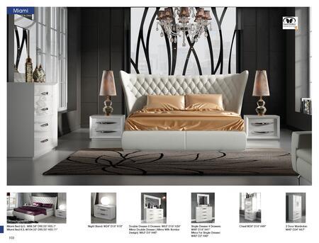 ESF i17720 63 Inch Carmen White Double Dresser, Modern ...