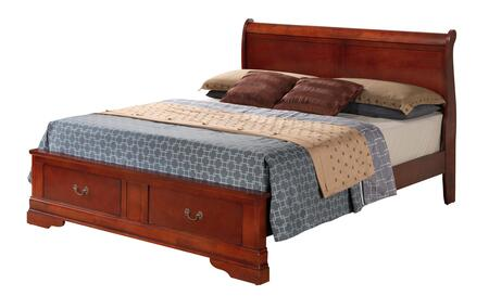 Glory Furniture Louis Phillipe G3100DFSB2 Bed Brown, Bed