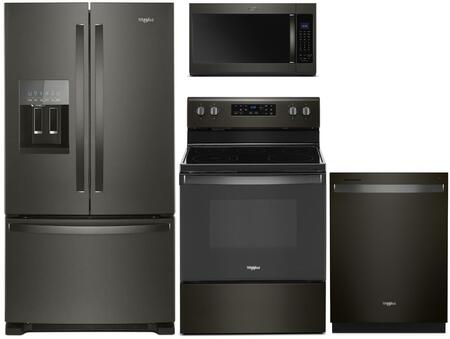 Whirlpool 902831 Kitchen Appliance Package & Bundle Black Stainless Steel, main image