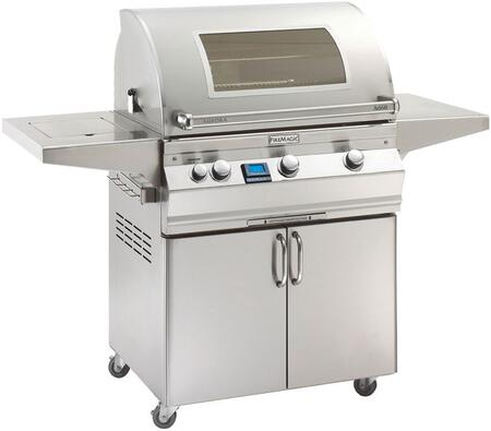 Fire Magic Aurora A660S5E1N62W Natural Gas Grill Stainless Steel, Main Image with Side Burner and Magic Window