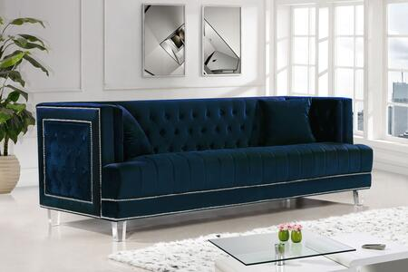 Meridian Lucas 609NAVYS Stationary Sofa Blue, Main Image