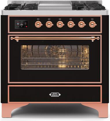 UM09FDNS3BKP 36″ Majestic II Series Dual Fuel Natural Gas Range with 6 Burners and Griddle  3.5 cu. ft. Oven Capacity  TFT Oven Control Display