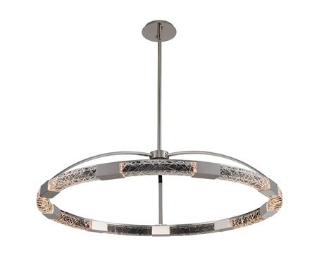 Athena 034852-046-FR001 43″ LED Pendant in Polish Nickel Finish with Artisan Handcut Firenze