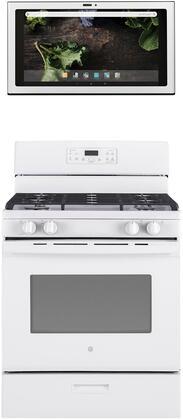 GE 1077316 Kitchen Appliance Package & Bundle White, main image