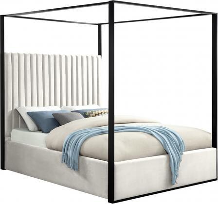 Meridian Jax Series JAXCREAMQ Bed White, JAXCREAMQ Main Image