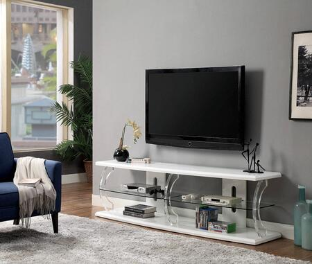 Furniture of America Ernst CM5901WHTV72 52 in. and Up TV Stand White, Main Image