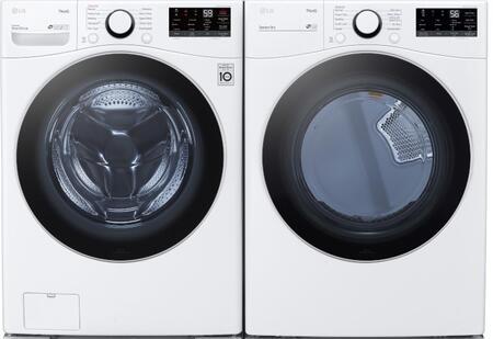 LG  1289279 Washer & Dryer Set White, 1