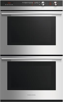 Fisher Paykel Contemporary OB30DTEPX3N Double Wall Oven Stainless Steel, Front view