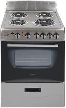 Avanti  ERU240P3S Freestanding Electric Range Stainless Steel, ERU240P3S Electric Range