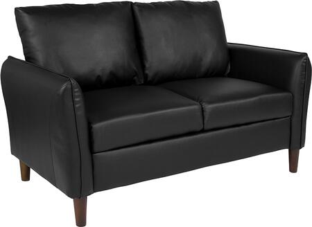 BT-S8373-LV-BK-GG Milton Park Upholstered Plush Pillow Back Loveseat in Black