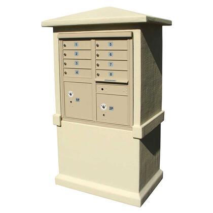 EVMC-TALL-SS Estateview stucco CBU Mailbox Center  TALL pedestal (column only) in Sandstone