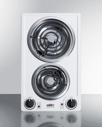 Summit  CCE225WH Electric Cooktop White, CCE225WH Front