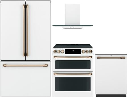 Cafe Customizable Professional Collection 1066343 Kitchen Appliance Package White, main image