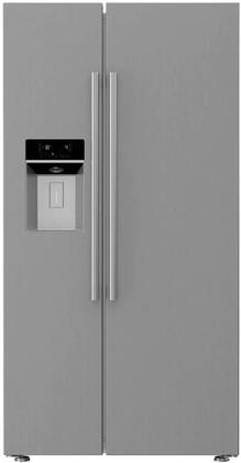 Blomberg  BSBS2230SS Side-By-Side Refrigerator Stainless Steel, Main Image
