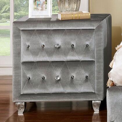 Furniture of America Alzire CM7150N Nightstand Gray, CM7150N
