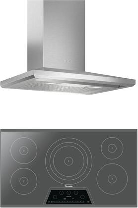 2 Piece Kitchen Appliances Package with CIT365KM 36″ Electric Induction Cooktop and HMCB36WS 36″ Wall Mount Convertible Hood in Stainless