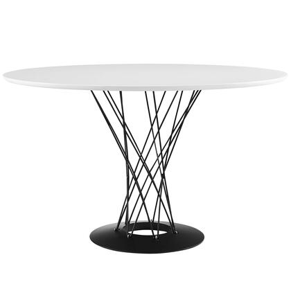 Modway Cyclone EEI1713WHI Dining Room Table White, Image 1