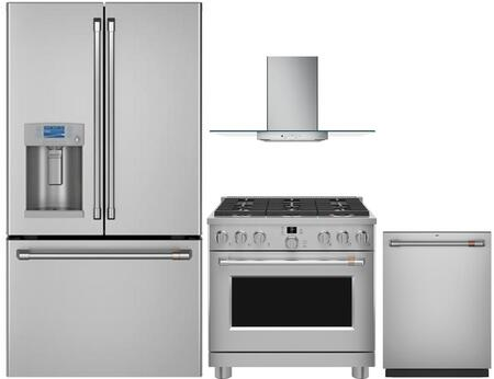 Cafe  1054604 Kitchen Appliance Package Stainless Steel, main image