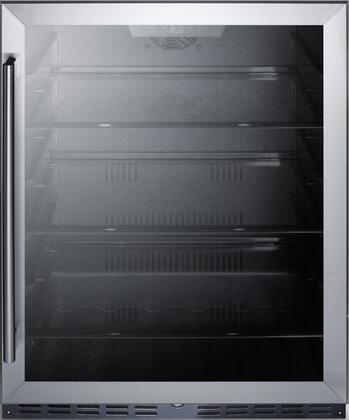 Summit  AL57G Compact Refrigerator Stainless Steel, AL57G Front View