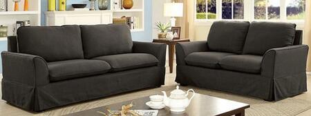 Furniture of America Maxine I CM6378GYSFLV Living Room Set Gray, Main Image