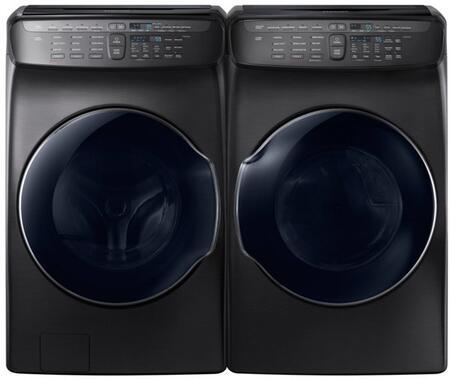 Samsung  751202 Washer & Dryer Set Black Stainless Steel, 1