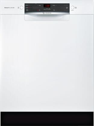 Bosch SGE53X52UC 300 Series 24 Inch Built In Full Console Dishwasher with 4 Wash Cycles, in White