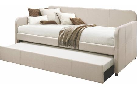 Acme Furniture Jagger 39190 Bed Beige, Lifestyle View