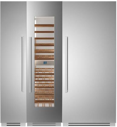 Bertazzoni  1309147 Column Refrigerator & Freezer Set Stainless Steel, 1