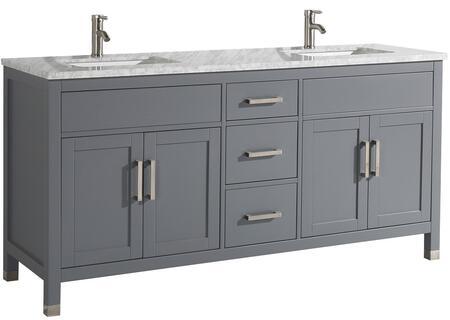 Ricca Collection MTD-6272G 72″ Double Sink Bathroom Vanity Set in