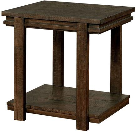 Furniture of America Gijon CM4866E End Table Brown, Main Image