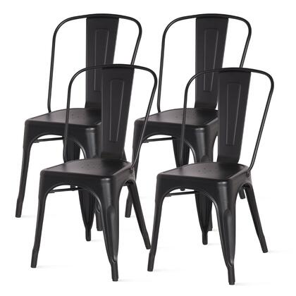 938233-FB Metropolis Metal Side Chair Set of 4  in Frosted