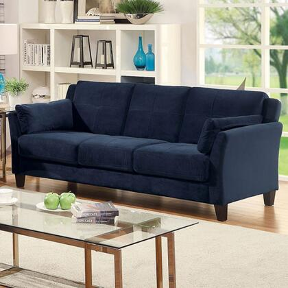 Furniture of America Ysabel CM6716NVSFPK Stationary Sofa Blue, Main Image