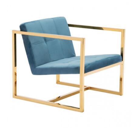 Zuo Alt Series 101110 Chair Blue, 101110 Front