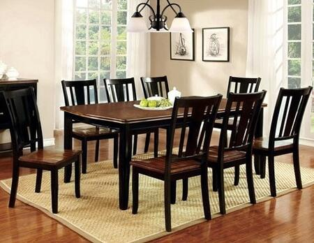 Furniture of America Dover CM3326BCT8SC Dining Room Set Multi Colored, main image
