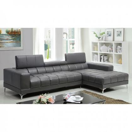 Furniture of America Bourdet II CM6669GYSET Sectional Sofa Gray, Main Image